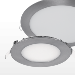 LED PANEL ROUND SATIN NICKEL